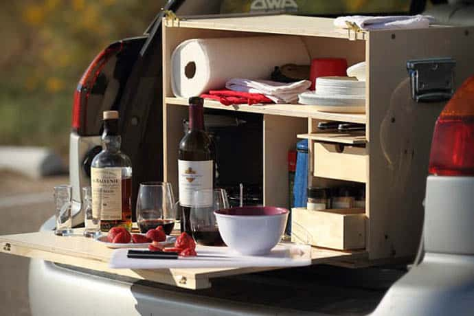 Comfortably Cook Outside with the Outdoorsman Camp Kitchen