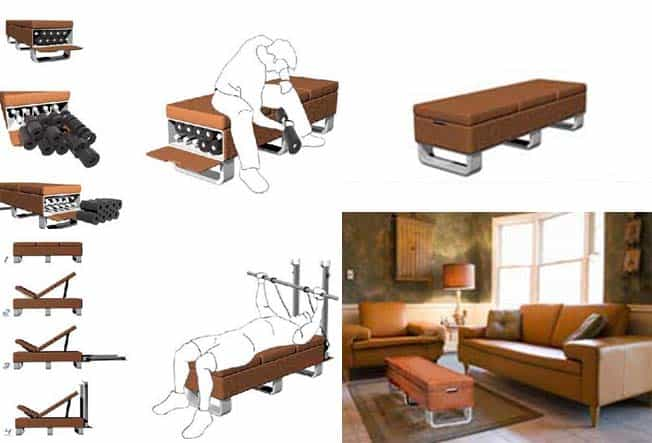 reupholster dining chair adirondack templates fitness at home: otto-bench that transforms into a little gym
