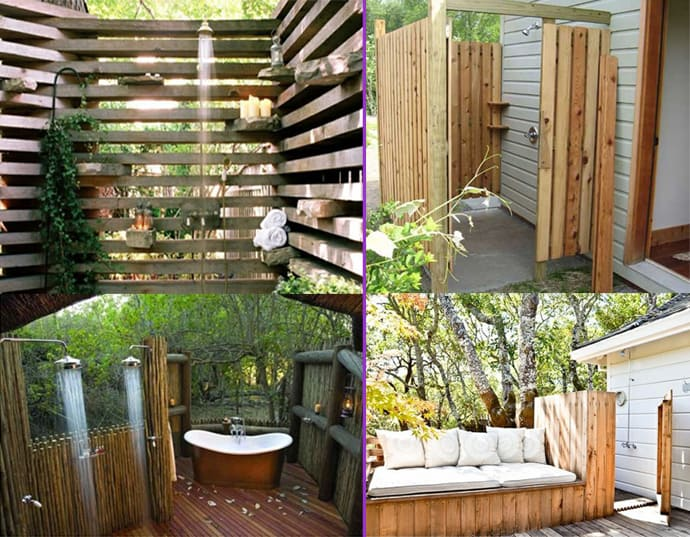 20 Irresistible Outdoor Shower Designs For Your Garden DesignRulz