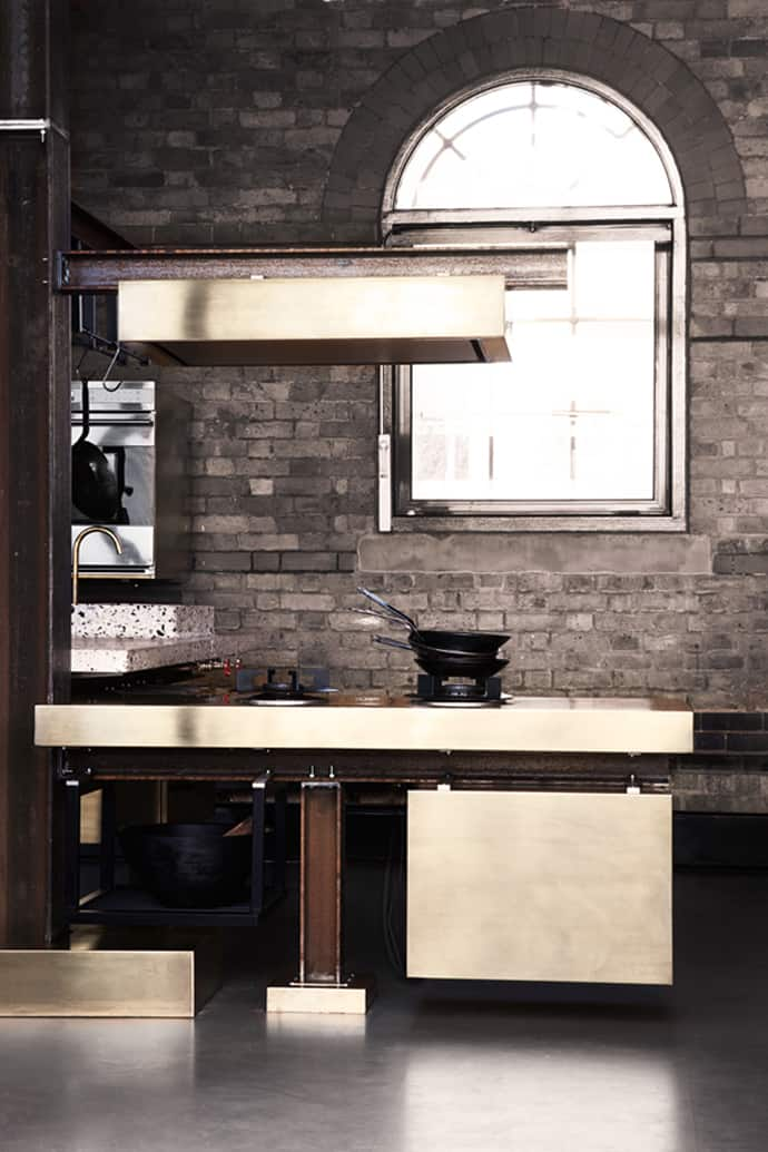 A Kitchen With Industrial Look Designed by Tom Dixon