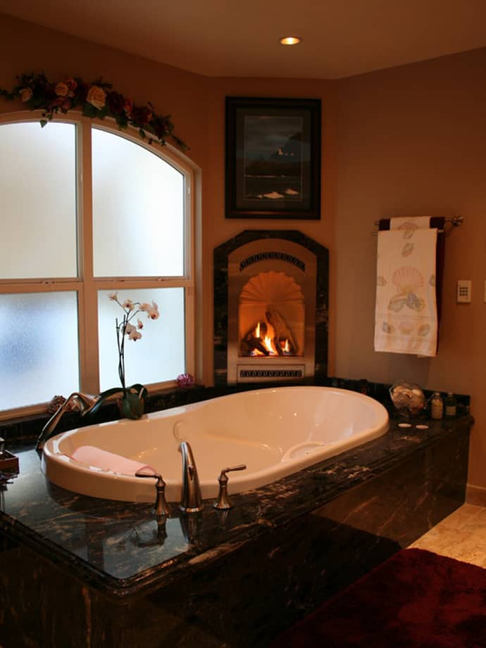 15 Examples Of Opulence And Elegance Bathrooms With Fireplace