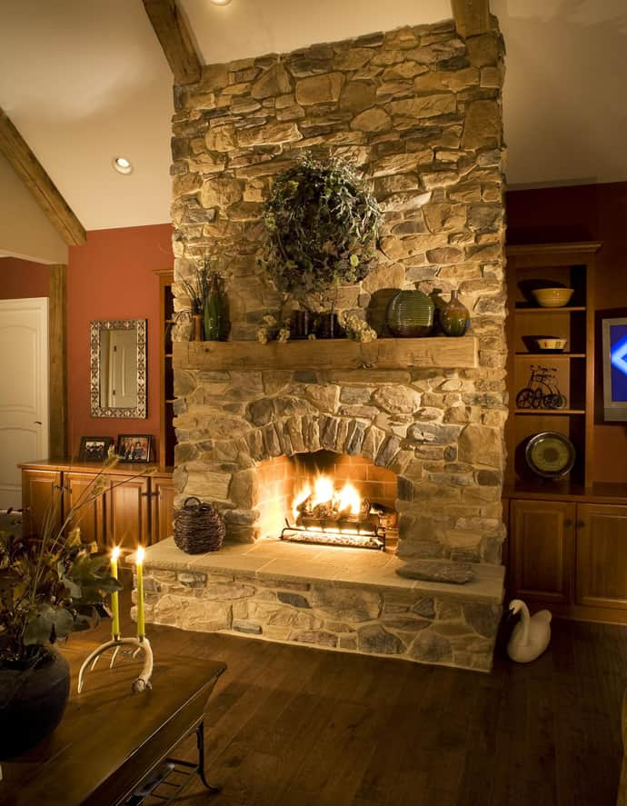 25 Stone Fireplace Ideas for a Cozy NatureInspired Home