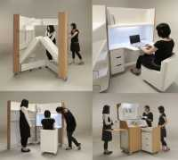 Space Saving Furniture: Compact Kitchen, Guest Room And Office