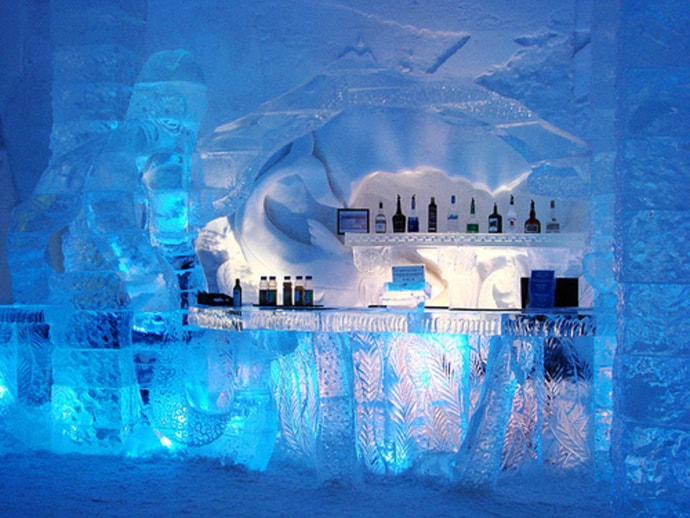 Unique Ice Hotel in Sweden Every Year the Ice Hotel is Different