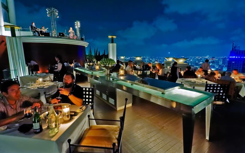 Sirocco Restaurant Bangkok Thailand  The Best Romantic
