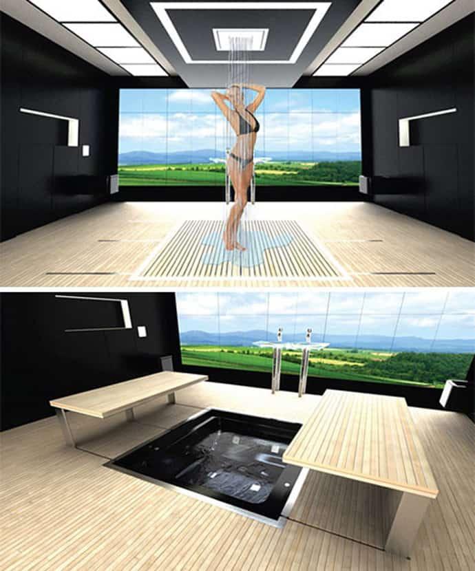 5 Dynamic Bathroom Designs Hidden into the Walls  DesignRulz