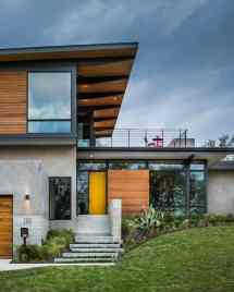Modern House With Concrete And Wood Facade