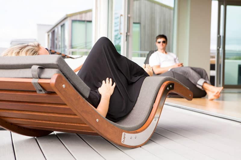 poolside lounge chairs paul mccobb rock out outside with the kwila sun lounger by lujo