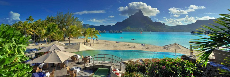 Le Meridien Bora Bora  The Overwater Bungalows Deliver a Gorgeous View of the Iconic Mount Otemanu