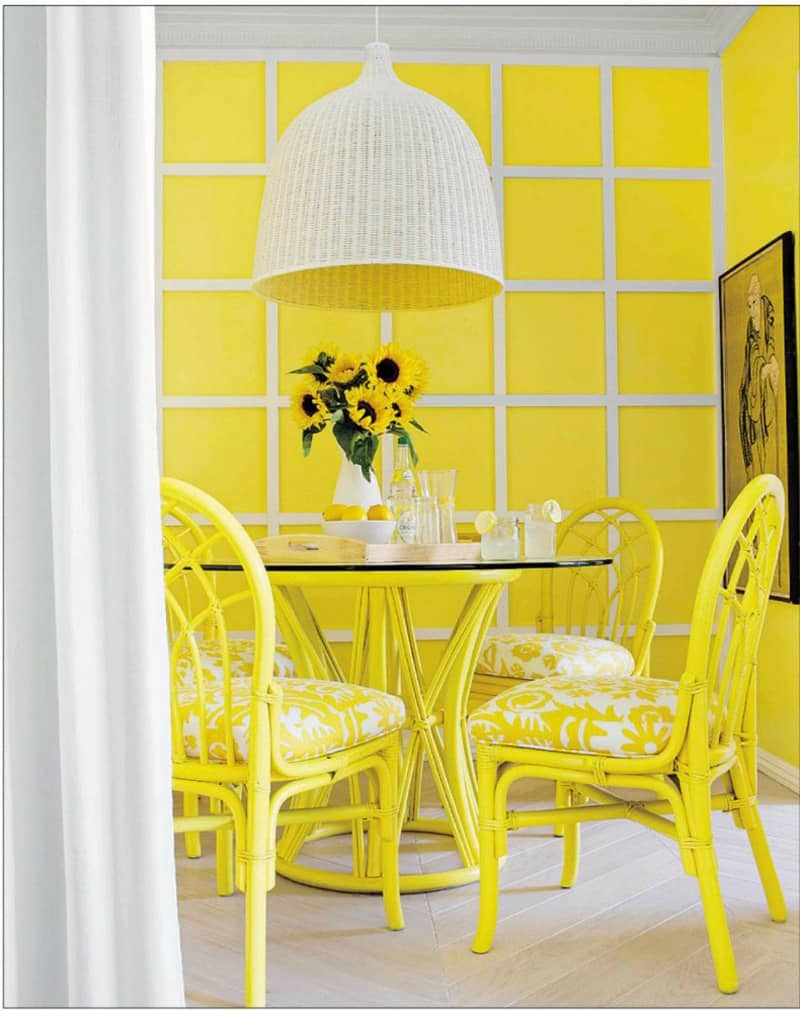 paint color ideas living room accent wall small decor 2016 30 gorgeous yellow interior design