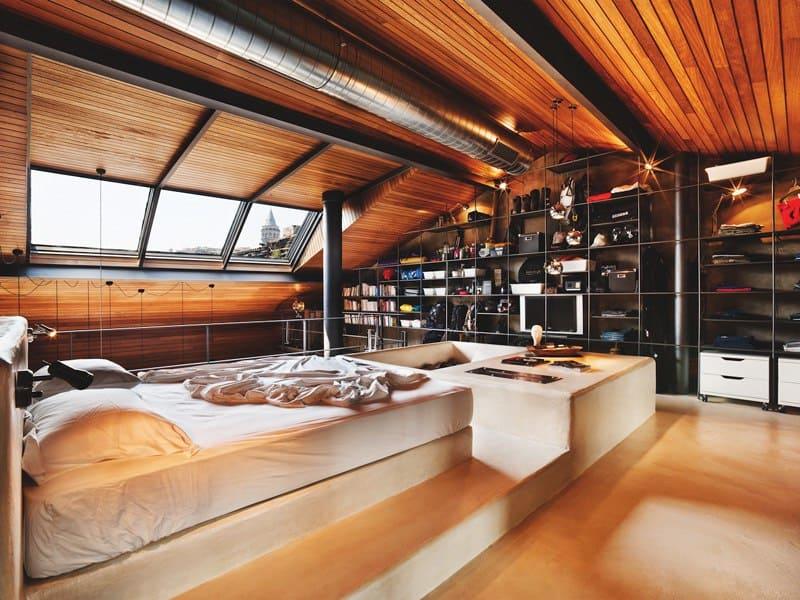 Modern Loft Interior Design with Wood and Creative