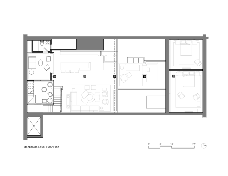 Modern Apartment: Tribeca Loft by Andrew Franz Architect