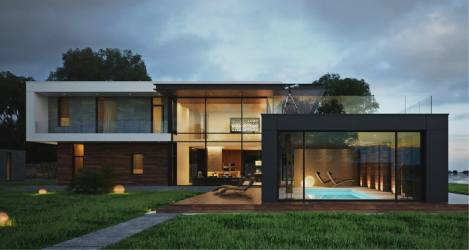 modern houses storey stand test floor two inside glass residence pool