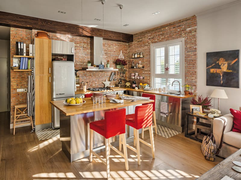 Modern Apartment That Flirts With Rustic Trends