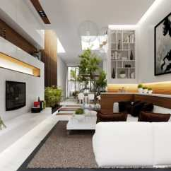 Clean Living Room Wall Mounted Furniture 35 Modern Rooms With Cool And Lines 2 French