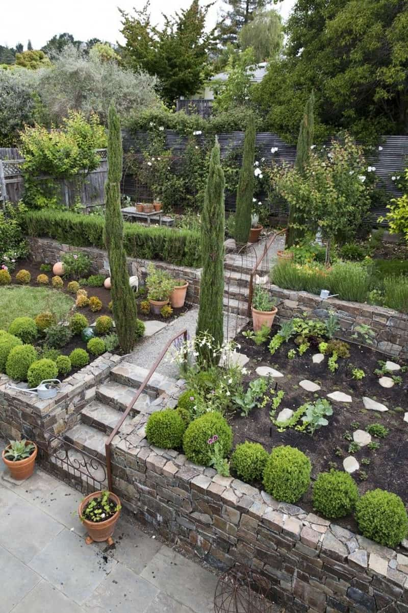 Inverted Sloped Back Yard Landscaping Ideas