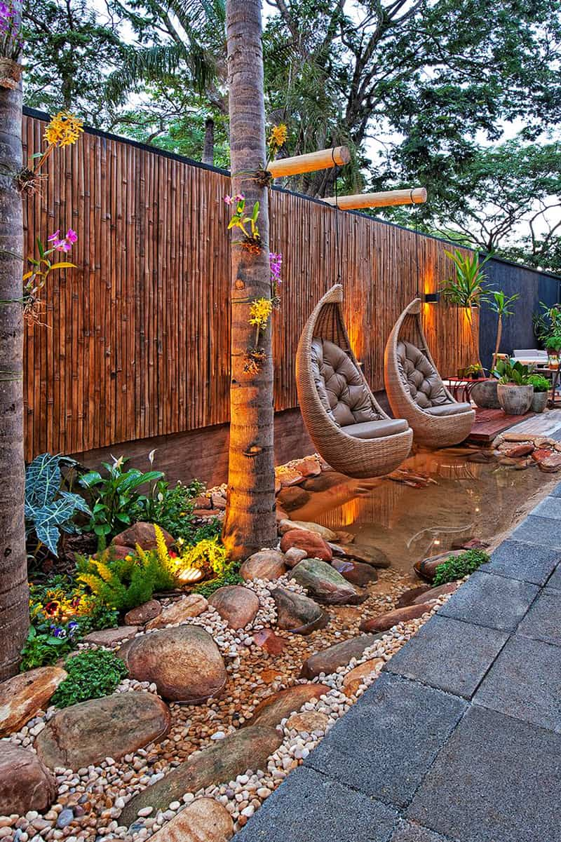affordable rocking chairs eames lounge chair amazing ideas to plan a sloped backyard that you should consider