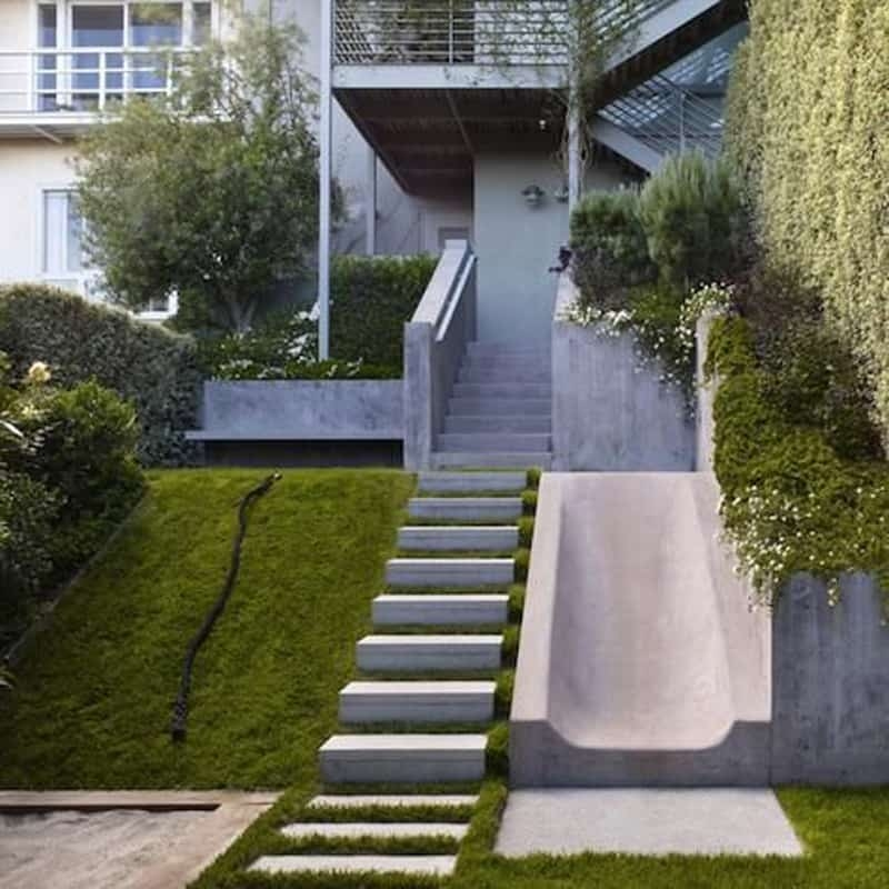 40 Ideas Of How To Design Exterior Stairways | Modern Staircase Design Outside Home | Msmedia | Stair Case | Spiral Staircase | Decorative Wrought | Iron Railings