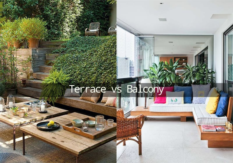 Difference Between a Terrace and a Balcony