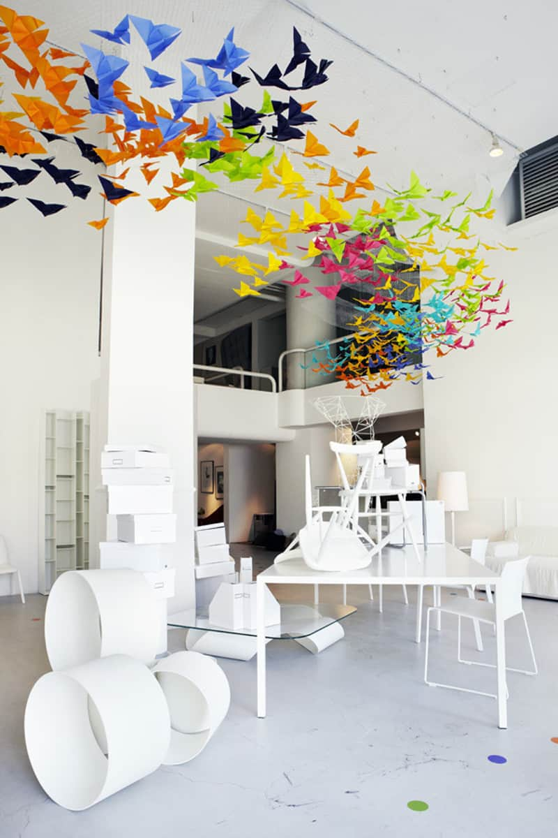 Amazing Art Installation Origami Butterflies by Dream Interiors x Elixr