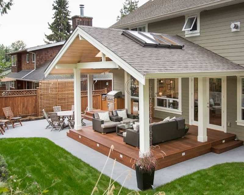 25 Warm and Cozy Rustic Outdoor Ideas To Decorate Your Garden Porch and Patio