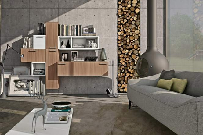 Example Of A Clic Living Room Design In New York Wall Units For Free