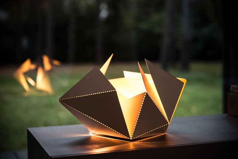 OrigamiInspired Folding Lamp By Thomas Hick