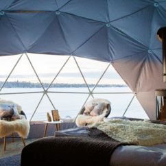 Round Table And Chair Set Leather Oversized Glamping Domes- Glamorous Camping All Year