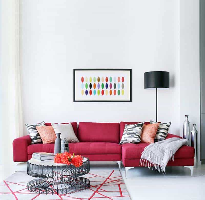 A lot goes into a sofa that's both stylish and comfortable to revisit this article, visit my profile, thenview saved stories. Adorable Red Sofas Creating a Modern Impression of Living Room