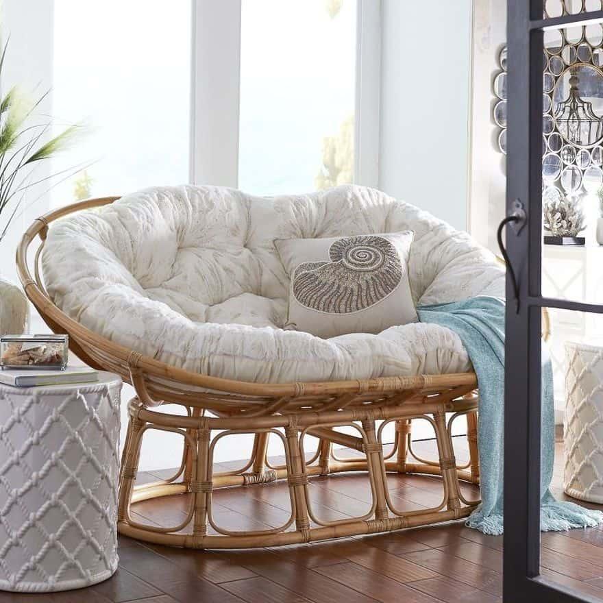 oval papasan chair