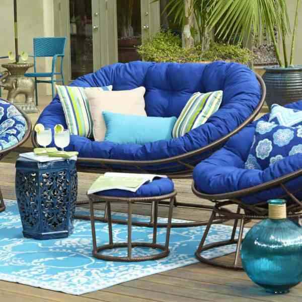 Outdoor Double Papasan Chair
