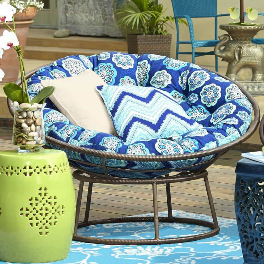 outdoor papasan chair swivel rocker patio parts rock the 70's with these cheap chairs for sale