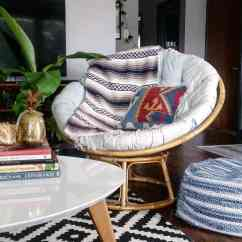 Bowl Chair Cushion Big Round Wicker With Rock The 70's These Cheap Papasan Chairs For Sale