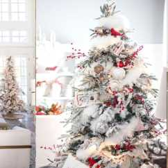 Diy Living Room Chair Cover French Country Style Rooms Beautiful Ideas To Deck Up Your Frosted Christmas Tree