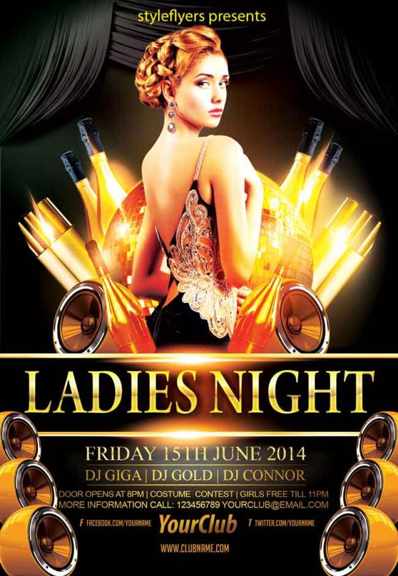 Ladies-night-party-flyer