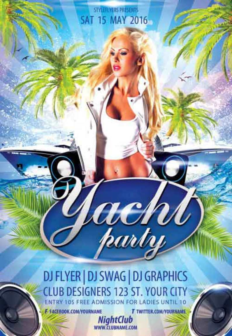 Yacht-Party-PSD-Flyer-Template