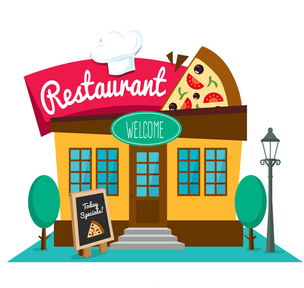 Image result for pizza restaurant cartoon free image