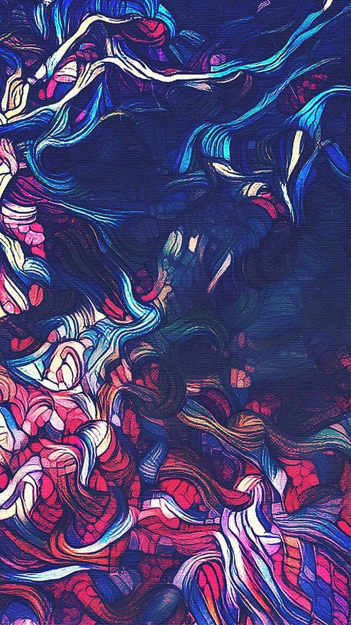 Girl Goldfish Wallpaper Neon Glowing Cat Close Up Wallpaper Digital Art