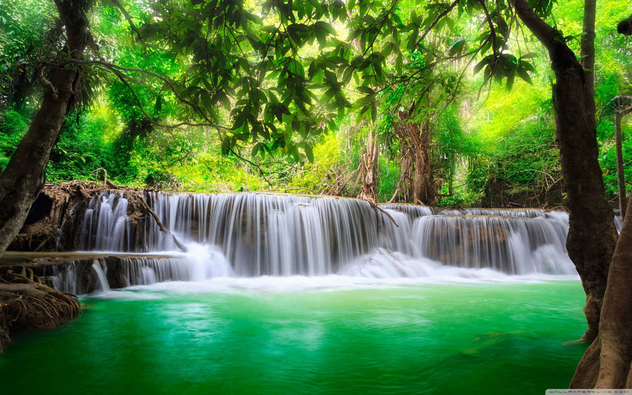 D Fantasy Places Hd Wallpapers 1920x1080 Waterfall In Plitvice Lakes National Park Wallpaper