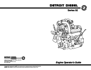 DETROIT Diesel Engines Workshop Manuals