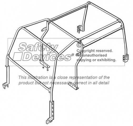 Safety Devices Defender 110 External / Internal Roll Cage