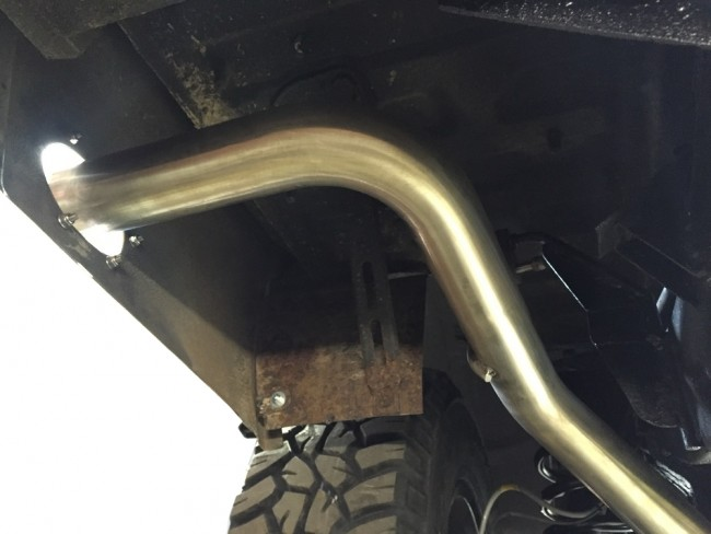 side exit tail pipe for discovery td5