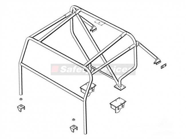 Safety Devices Defender 90 External Roll Cage With