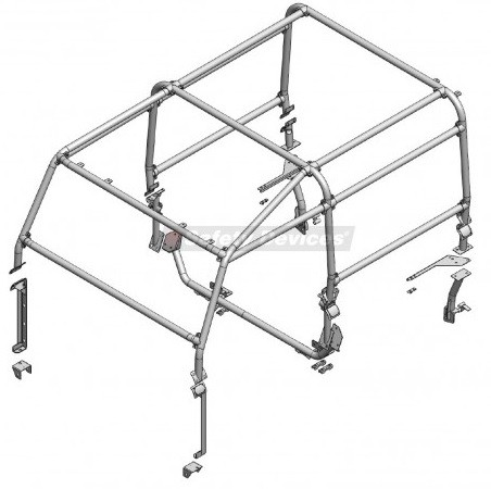 Safety Devices Defender 90 External Roll Cage No Bulkhead
