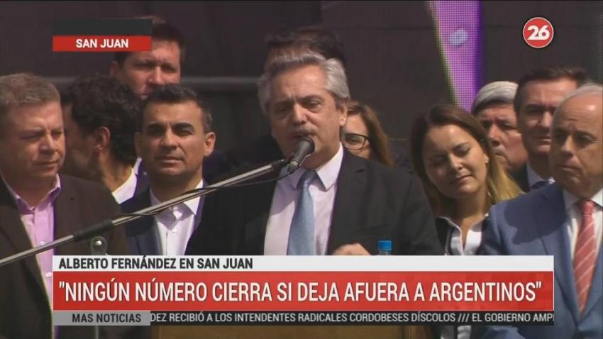 """Alberto Fernández: """"No me voy a dar por enterado de la pobreza a los cuatro años de gobierno"""