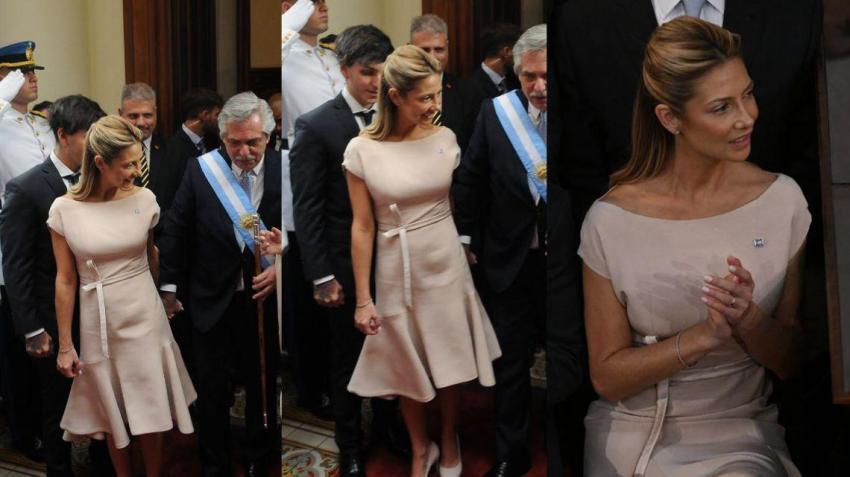 La elegancia de Fabiola Yáñez que cautivó a todos en la asunción presidencial