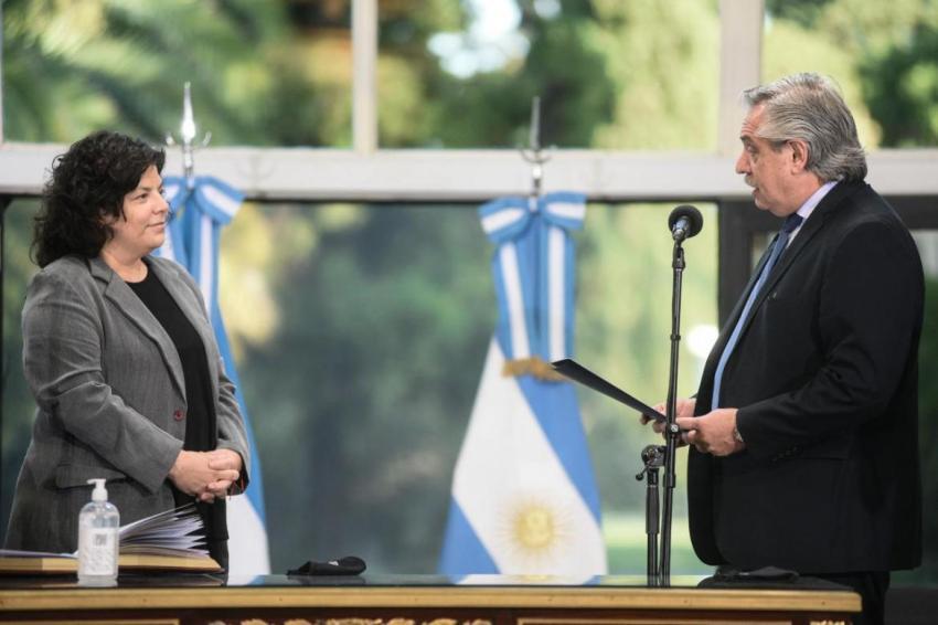 Alberto Fernández le tomó juramento a Carla Vizzotti y es la nueva ministra de Salud