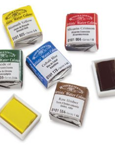 Professional watercolor half pans also winsor  newton blick art materials rh dickblick