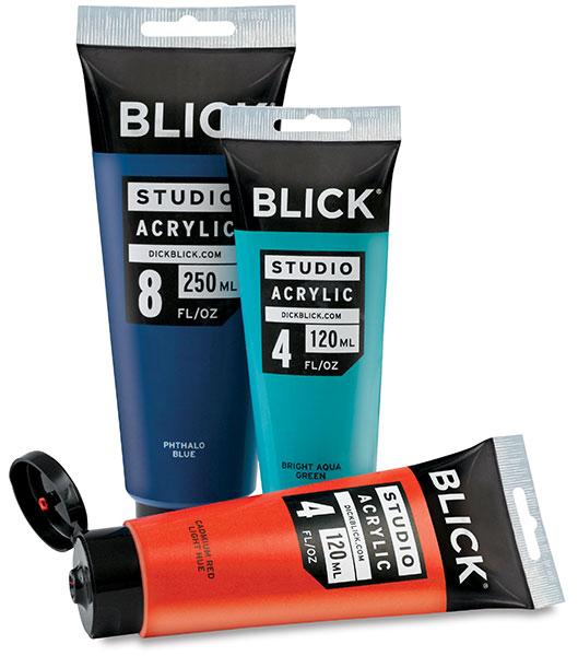 blick studio acrylics and