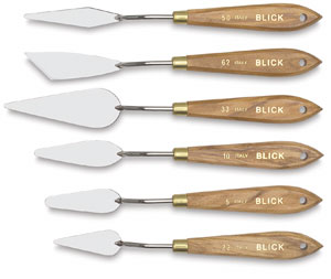 Blick Nickel-Plated Painting Knives, Traditional Knives, Set of 6